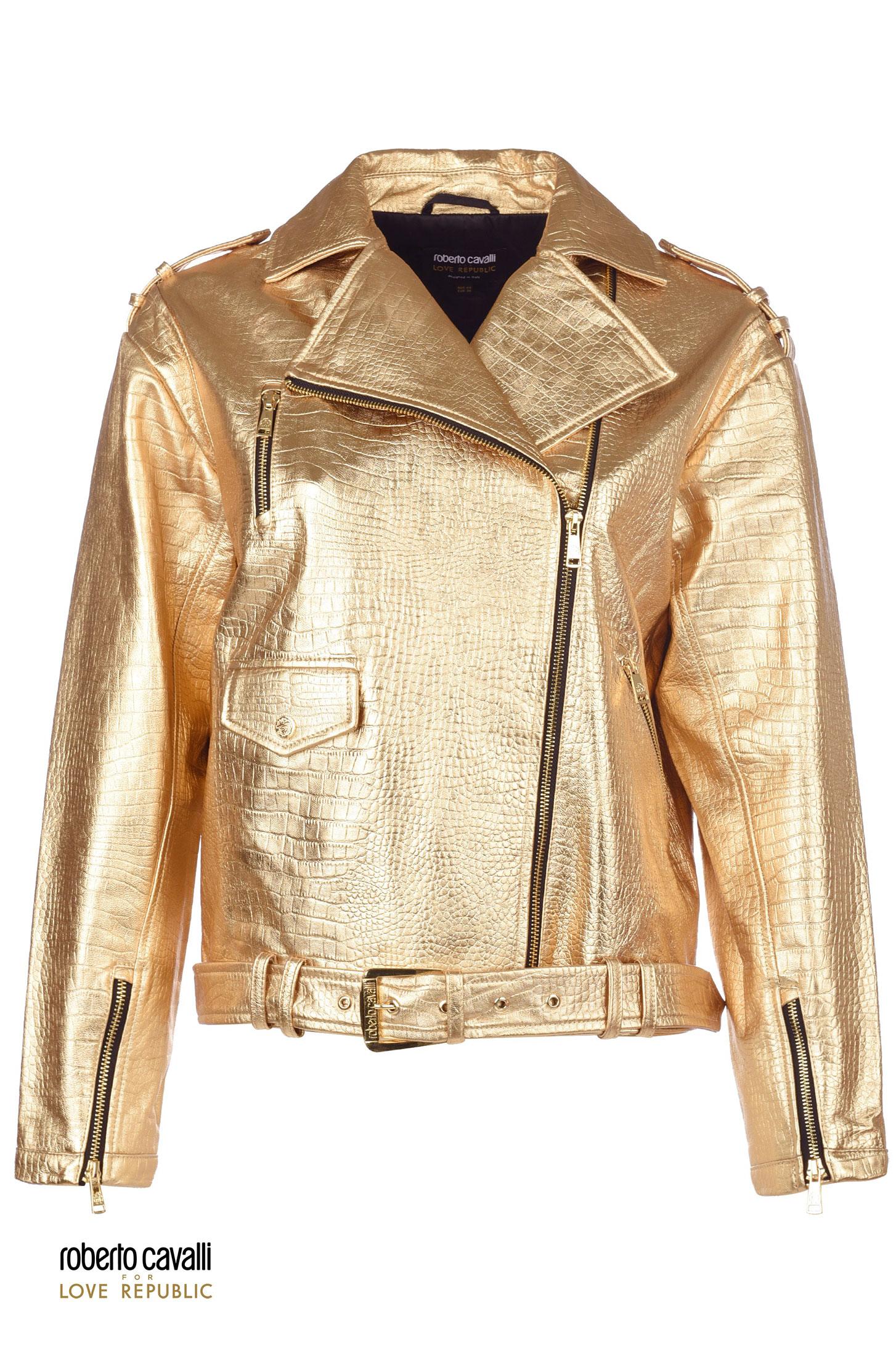 Золотая кожаная куртка