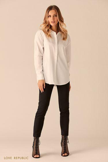 Рубашка сзакрытой пуговичной планкой 0151024310