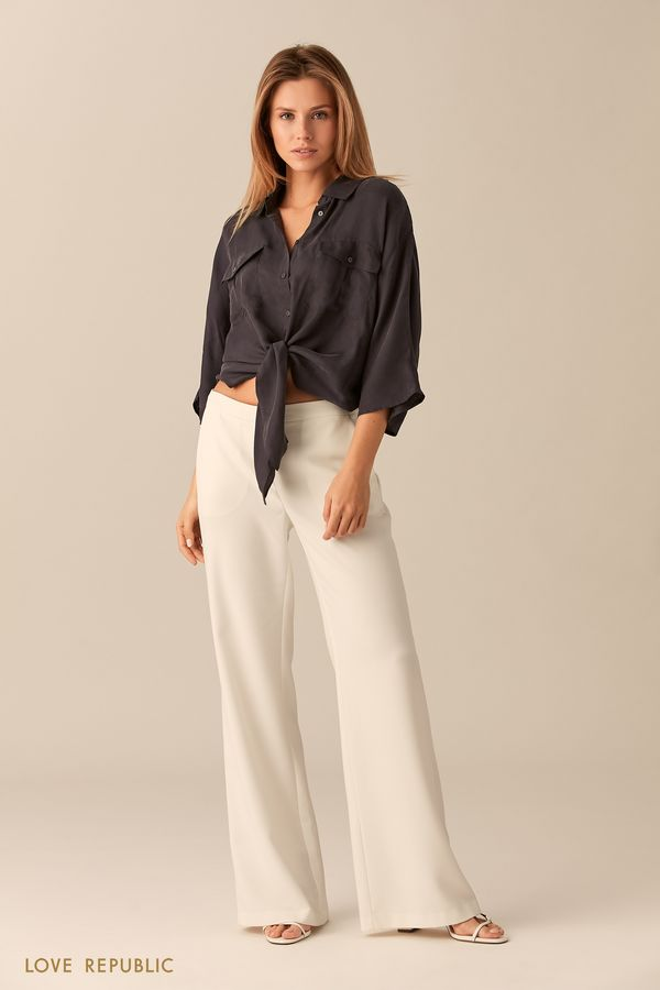 Короткая медная рубашка из ткани купро 0151002322-67