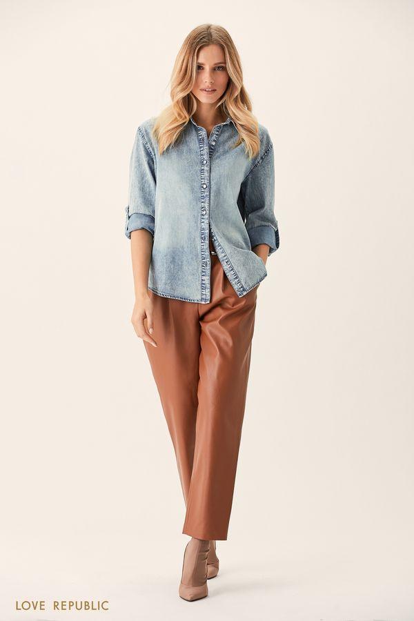 Серая джинсовая рубашка 0151012333-32
