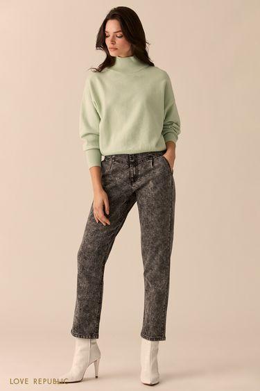 Мятный свитер с высоким горлом 0151135825
