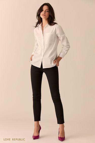 Эластичные чёрные джинсы 0151192727