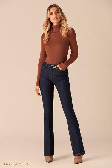 Расклешённые темные джинсы 0151692732