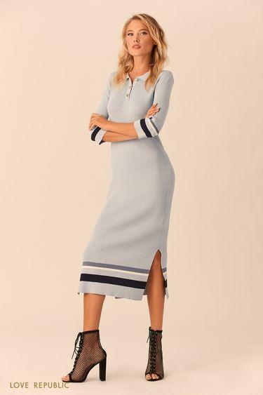 Длинное платье в стиле поло 01521320512
