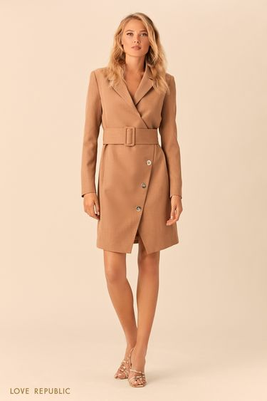 Платье-пиджак кроя на запахе с подкладкой 0152318505