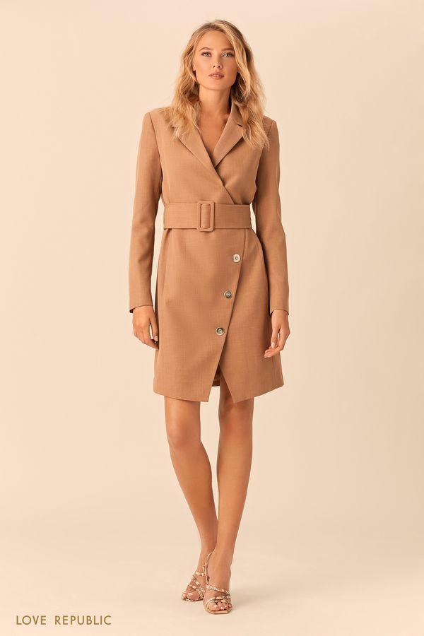 Платье-пиджак кроя на запахе с подкладкой 0152318505-63