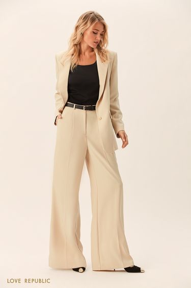 Широкие брюки со стрелками 0152764722
