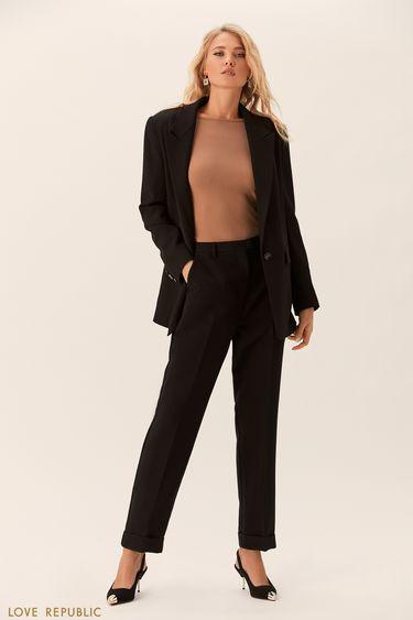 Прямые брюки с отворотами 0152817721