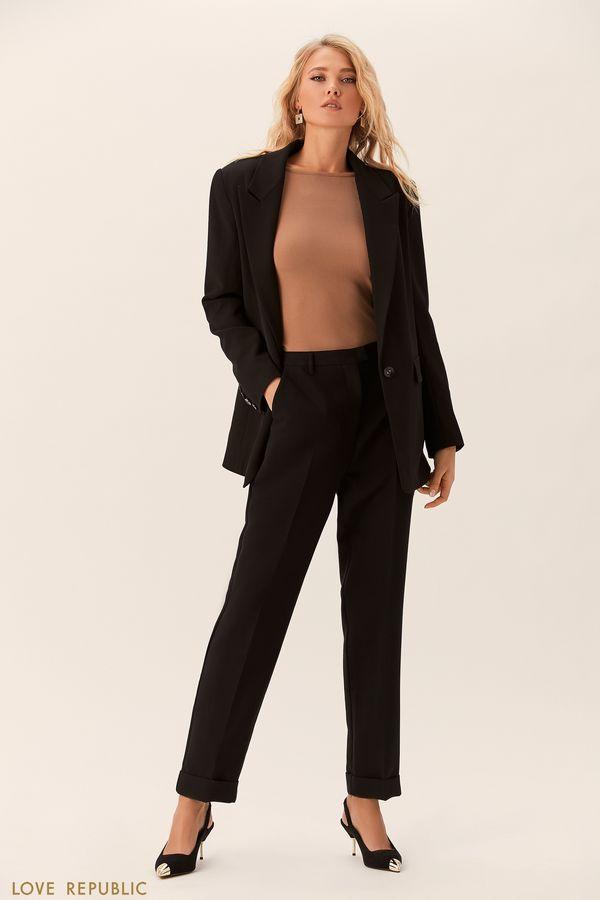 Прямые брюки с отворотами 0152817721-50