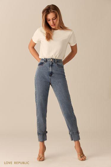 Джинсовые брюки с ремешками 0153197742