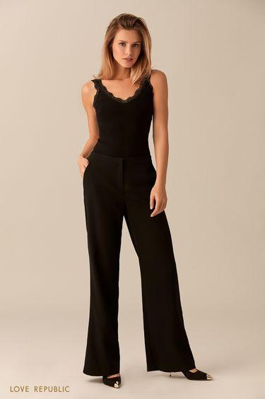 Чёрные брюки расклёшенного кроя 0153311710