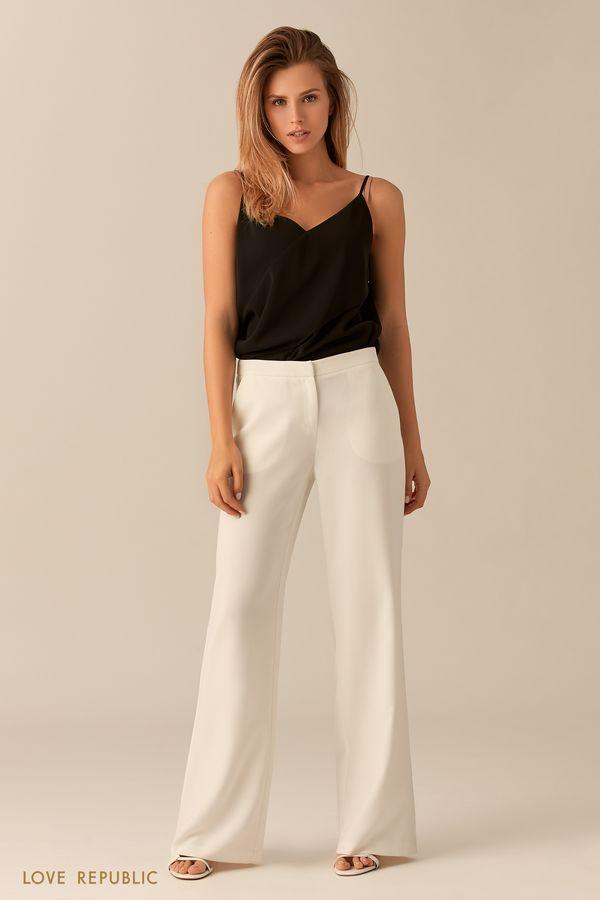 Чёрные брюки расклёшенного кроя 0153311710-50