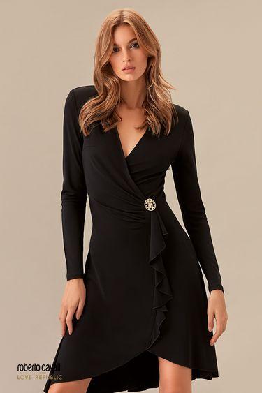 Черное платье на запах 0153757503
