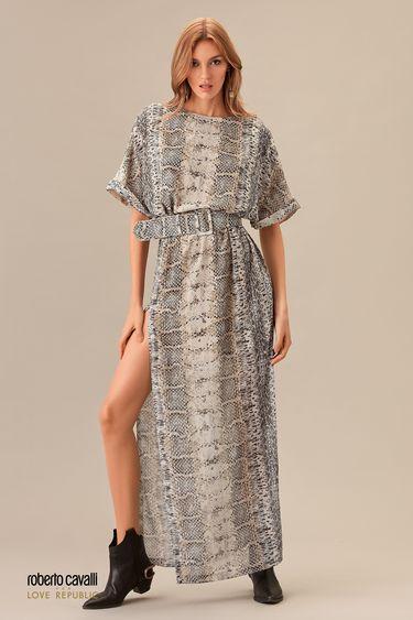 Платье длины макси с разрезом 0153766530