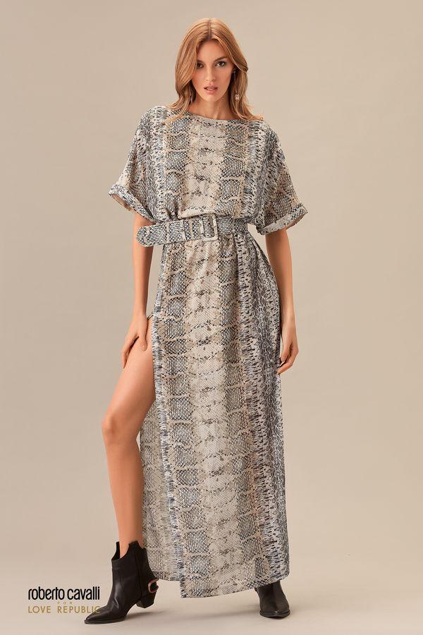 Платье длины макси с разрезом 0153766530-65