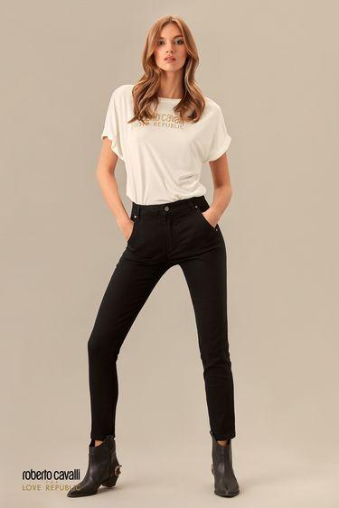 Узкие джинсы черного цвета 0153941711