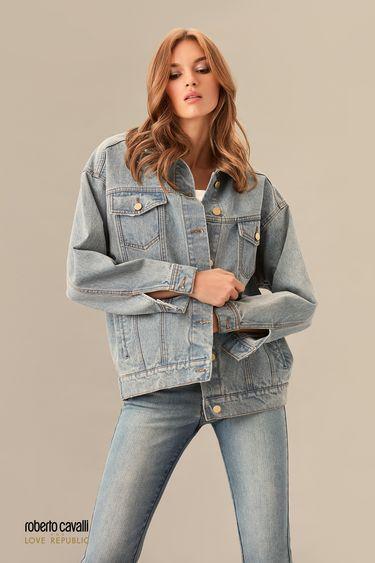 Джинсовая куртка в цвете голубой индиго 0153973103