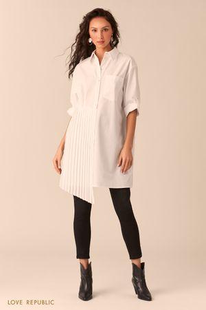 Платье-рубашка с плиссировкой Love Republic