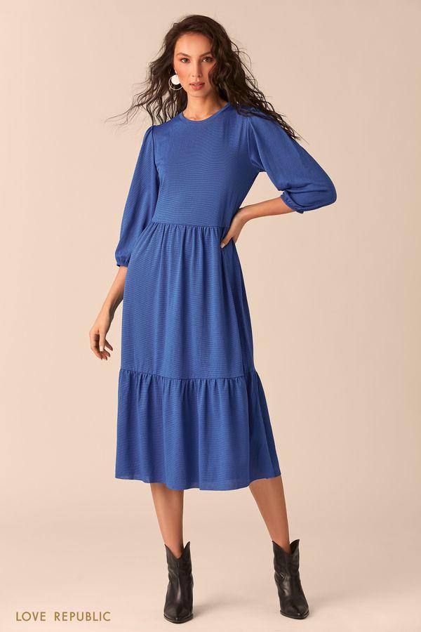 Приталенное бордовое платье 02541260526-71