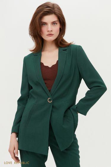 Трендовый пиджак удлиненного кроя 0254228625