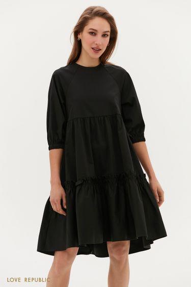 Платье-парашют с ярусным подолом 0254238533