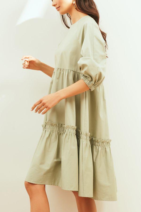 Платье-парашют с ярусным подолом 0254238533-50