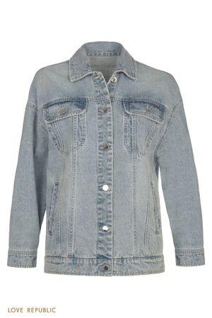 Базовая джинсовая куртка oversize фото