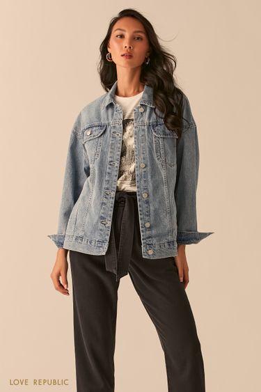 Базовая джинсовая куртка oversize 0254421108