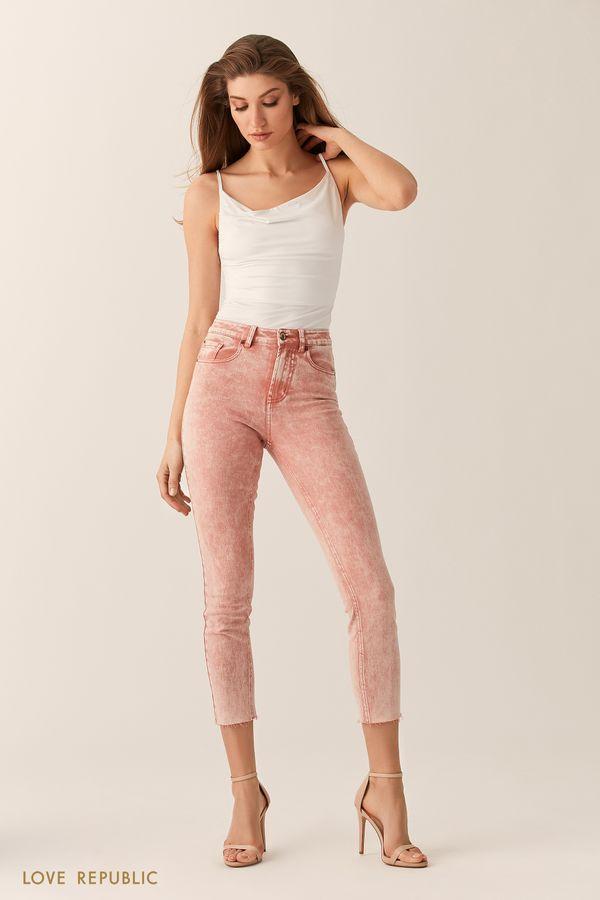 Укороченные джинсы прямого кроя 0254415747-100