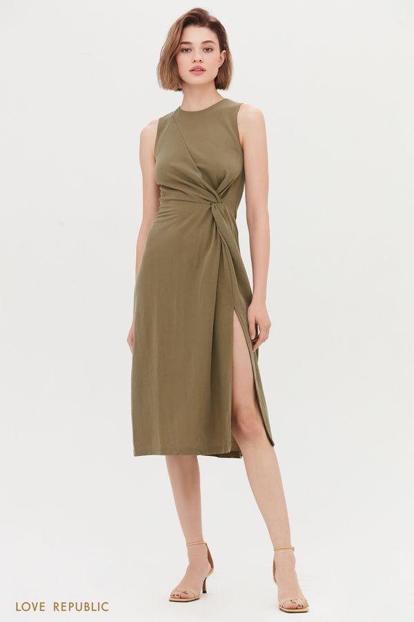 Платье с акцентом на талии 0255134562-23