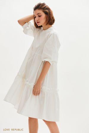 Платье-миди свободного кроя