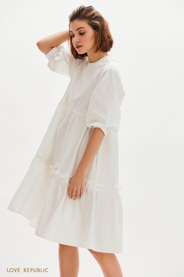 Хлопковое платье-парашют 0255246555-1