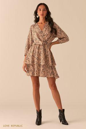 Платье-смок с лифом на запах фото