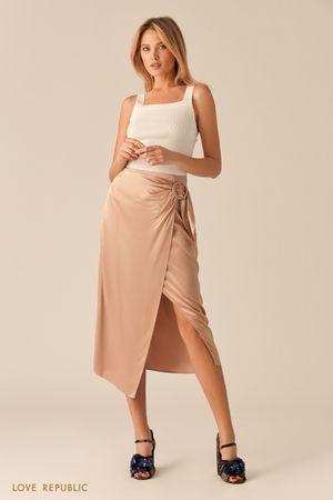 Атласная юбка на запах