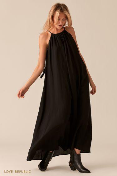 Свободное платье макси А-силуэта 0256005506