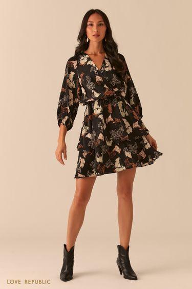 Платье-смок с лифом на запах 0256034519