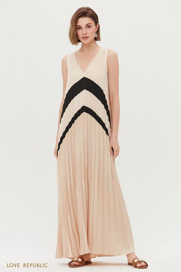 Летнее платье из плиссированной ткани 0256041536-63