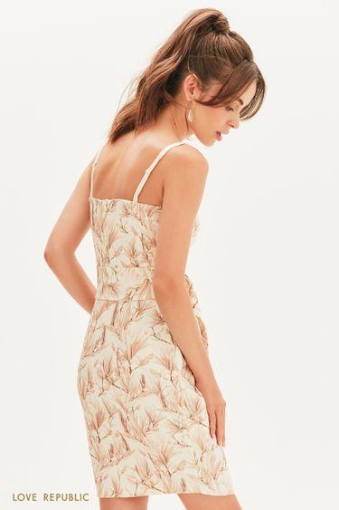 Платье-бандо с цветочным принтом 0256224529