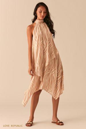 Асимметричное платье с американской проймой фото