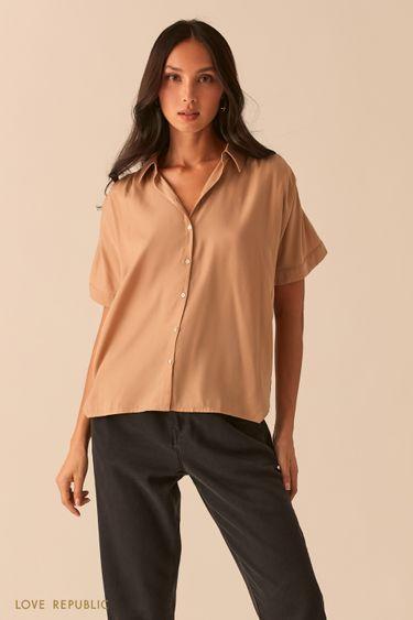 Свободная блузка со сборками на плечах 0357002312