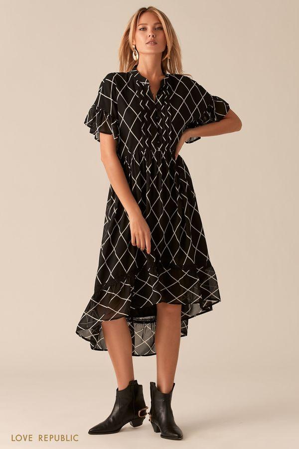 Каскадное платье с притом в стиле бохо 0357009523-54