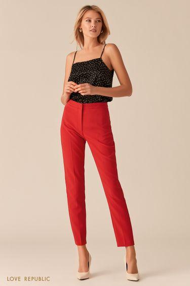 Базовые красные брюки со стрелками 0357205702