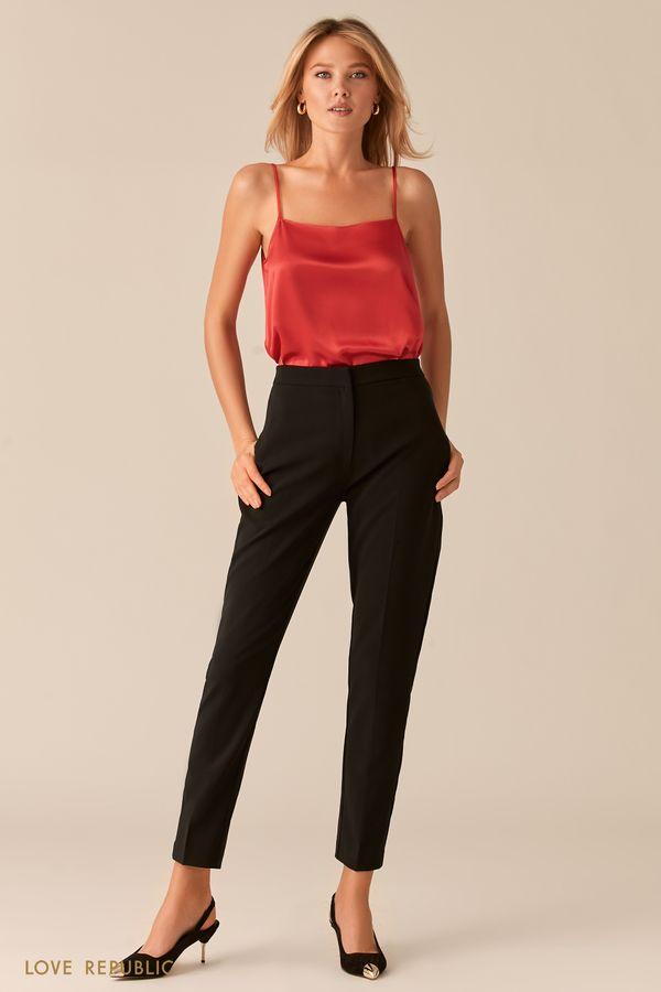 Базовые красные брюки со стрелками 0357205702-70