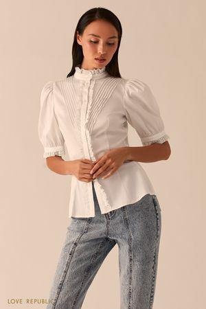 Белая блузка в викторианском стиле