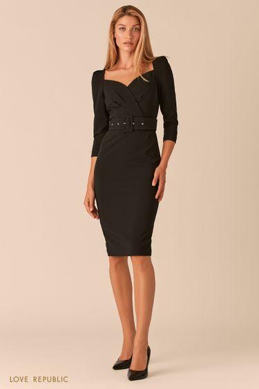 Черное платье-футляр с вырезом SWEETHEART 0358294597