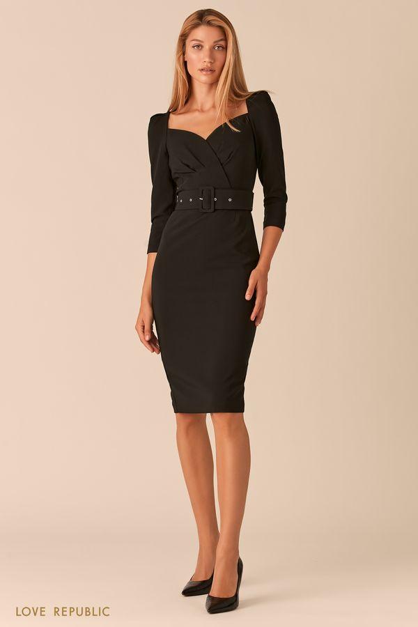 Бежевое платье-футляр с вырезом SWEETHEART 0358294597-61