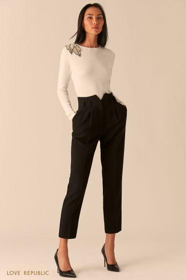 Классические брюки с поясом-корсетом 0359240731