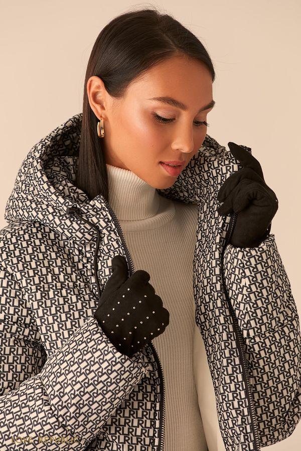 Перчатки с декором из статсов 044017006-66