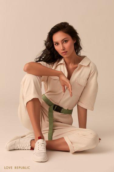 Белые кроссовки 044422102