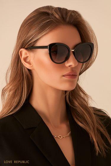 Тёмные очки с металлической вставкой 044436004